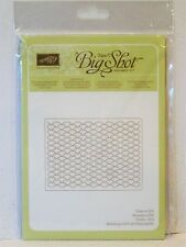 Stampin Up FANCY FAN Textured impressions Embossing Folder BigShot NEW