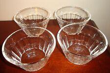 villeroy & Boch Crystal Clear Glass Fruit / Dessert Bowls Set Of 4