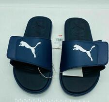 PUMA Mens Starcat Tech Slide Sandals Navy Blue / White