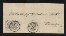 Stato Pontificio 1855 lettera da Roma per Firenze con l'8baj bianco N1232