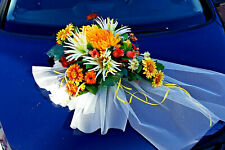 excl.Autoschmuck Auto Hochzeit Autogesteck Blumengesteck Kunstblumen Herbst LA81