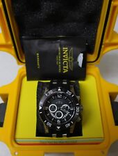 Invicta Pro Diver Chronograph Stainless Black Rubber Strap Mens Watch 23696 NEW