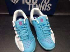 K Swiss Girl's Bigshot Light 2.5 tennis shoe  Size 3 White/Lt. Blue  Brand new