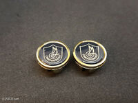 Vintage style Campagnolo shield gold Handlebar End Plugs