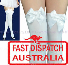 Costume 20s Flapper Party Opaque Thigh High Highs Leggings Stockings with Bow