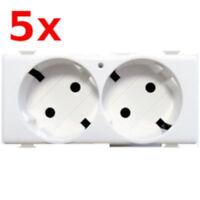 5x Legrand Bticino Matix AM5450/2 Schuko Doppel Steckdose Toma Schuko Duplex 16A