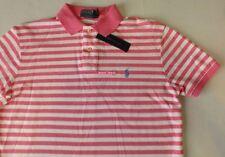 $80 NEW Mens RALPH LAUREN Custom Polo Shirt MEDIUM Pink/white pony fitted slim
