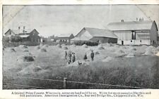"""A Typical Price County Farm Scene"""" Chippewa Falls, Wisconsin WI 1908"
