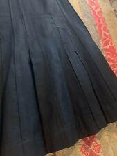 Vintage Antique Victorian Edwardian Women's Long Pleated Wool Skirt Steampunk