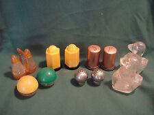 Vintage.....Lot Of 6....Retro, Plastic & Metal.....Salt  & Pepper Shakers