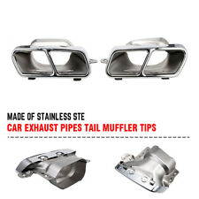 2pcs Exhaust Pipes Tail Muffler Tips Fit For Mercedes Benz W221 W164 AMG 05-12