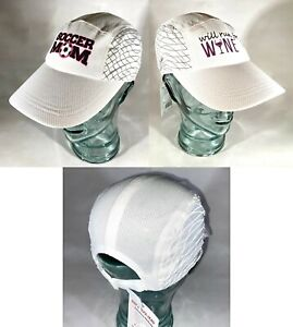 Reflective Women's Running Hat w/ ponytail opening with Run Mom, Soccer Mom +!