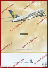 SINGAPORE AIRLINES - ANNUAL REPORT 2007-2008