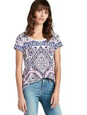 Lucky Brand - Womens S - NWT $39 - Placed Rug Print Scoop Neck Tee