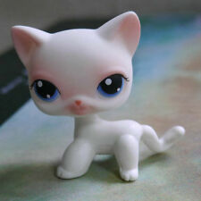 LPS White Pink Short Hair Cat #64 Littlest Pet Shop toys LPS Collector Toy