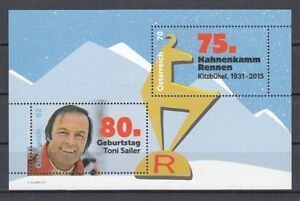 Österreich   Block 84  Skisport  Toni Sailer   **  (mnh)