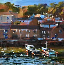 Jeremy Sanders Original Oil Painting - Mousehole Cornwall - Cornish Art