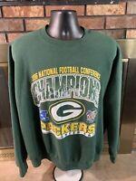 Vintage Green Bay Packers NFL Football Crewneck Sweatshirt Mens XXXL Super Bowl