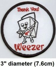 """Vintage 2002 Weezer Chinese Take Out Embroidered Iron/Sew-On Patch 3"""" New Rare"""