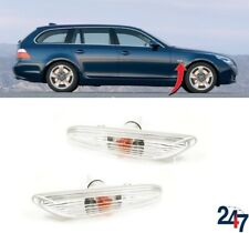 NEW BMW 5 SERIES E60 E61 03 - 10 WING TURN SIGNAL INDICATORS PAIR SET N/S O/S
