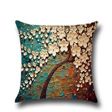 Vintage Linen Cotton Cushion Cover Waist Throw Pillow Case Home Decor Floral