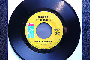 """7"""" Booker T. - Mrs. Robinson/ Soul Clap '69 - US Stax"""