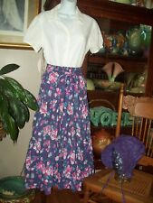 Laura Ashley Skirt Pioneer Costume size S Skirt , Blouse and Bonnet