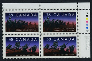 Canada 1250a TR Plate Block MNH Infantry Regiments, Military