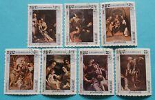 """Kambodscha: Michel-Nr. 620-626 """"Todestag von Correggio"""" aus 1984, gestempelt"""