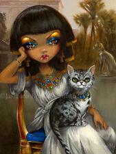 Jasmine Becket-Griffith art Big print egyptian mau princess cat Signed Sanura
