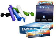 Elements 1.25 Rolling Paper Ultra Thin Rice 1 1/4 25 Packs Seal Box + FREE TUBES