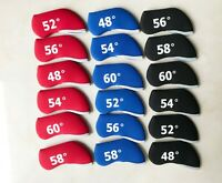 6x Golf Iron Cover Wedge Headcover For Taylormade M4 Mizuno Cobra Titleist Ping