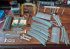 More details for vintage toy railway joblot - track, walkways, signals, crossing, buildings etc