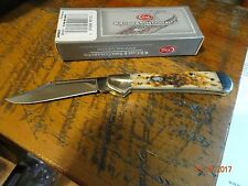 CASE XX CENTERLOCK CA-133 AMBER BONE POCKET KNIFE 61479L S.S SUPERIOR BLADE EDGE