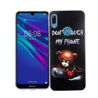Huawei Y6 2019 Custodia Cover per Cellulare Protezione Protettiva Bumper Nero