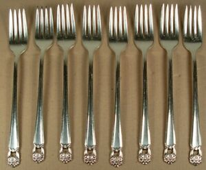 ETERNALLY YOURS 1847 ROGERS BROS SILVERPLATE 8 GRILL FORKS 1941
