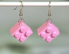 Earrings made with LEGO bricks - pink