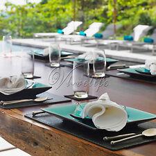 "100 Linen Napkin Polyester Handkerchief 12""X12"" Cloth Diner Wedding Party Decor"
