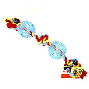 Top Paw Knot Rope with Balls Dog fetch Toy