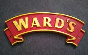 GENUINE VINTAGE SHEFFIELD WARD'S BREWERY SIGN / PLAQUE - EXTREMELY RARE!