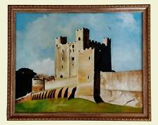 Rochester Castle England Original Painting Oil on Canvas Framed Realism Signed