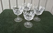"""BEAUTIFUL SET OF 4! Waterford Crystal Lismore Champagne Claret 4"""" Tall"""