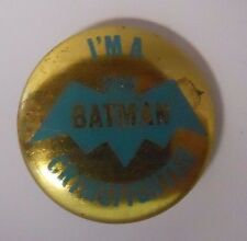 1966 Creative House Batman Pinback Button Pin-I am a Batman Crimefighter-D5