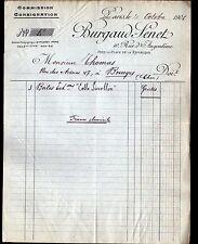 """PARIS (XI°) COLLES SICCOLLIN """"BURGAUD & SENET"""" en 1906"""