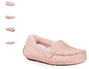 UGG Ansley Pink Cloud Suede Moccasin Slipper Women's US sizes 5-12 NEW!!!