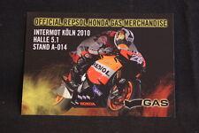Card / Flyer Intermot Köln 2010 Official Repsol Honda Gas Merchandise (HW)