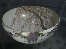 "Japanese Satsuma Punch Bowl Punchbowl signed Senzan, Meiji period 12"""
