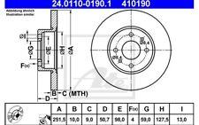 ATE Juego de 2 discos freno 251mm para FIAT STILO BRAVO ALFA ROMEO