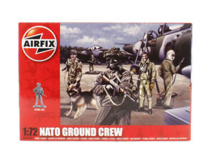 A01758 Airfix 1:72 Scale Nato Ground Crew Model Figures New Boxed UK