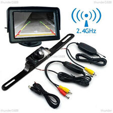 "Sans fil voiture 2.4GHz 4.3"" lcd moniteur vision de nuit parking backup reverse camera"